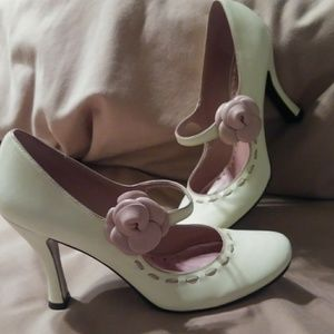 Cream and rose heels